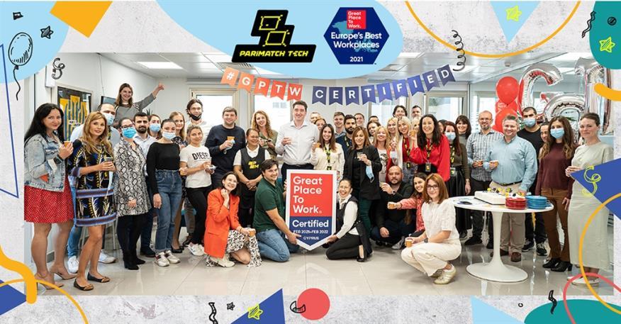 Η Parimatch Tech ανάμεσα στους πρωταθλητές της Ευρώπης